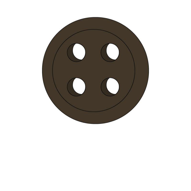 camicia-su-misura-bottone-marrone-scuro